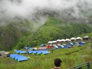 Ghangaria Camping Ground